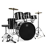 Best Choice Products 5-Piece Full Size Complete Adult Drum Set w/ Cymbal Stands, Stool, Drum Pedal,...