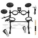 Donner DED-100 Electronic Drum Set, Eight Pieces Mesh Electric Drum Set with 195 Sounds, Electric...