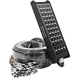 Seismic Audio - SALS-32x8x100-32 Channel 100' Pro Stage XLR Snake Cable (XLR & 1/4' TRS Returns) for...