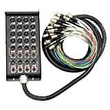 Seismic Audio - SALS-16x8x25-16 Channel 25' Pro Stage XLR Snake Cable (XLR & 1/4' TRS Returns) for...