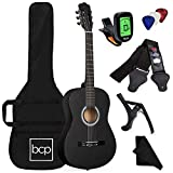 Best Choice Products 38in Beginner All Wood Acoustic Guitar Starter Kit w/Gig Bag, Digital Tuner, 6...