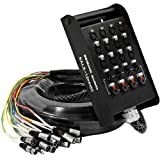 Seismic Audio - SALS-12x4x50 - 12 Channel 50' Pro Stage XLR Snake Cable (XLR & 1/4' TRS Returns) for...