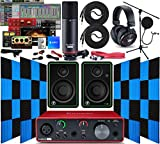 Focusrite Scarlett Solo 2x2 USB Audio Interface with Creative Music Software Kit with Mackie CR3-X...