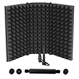 Microphone Isolation Shield, Professional Studio Recording Equipment for Sound Booth, High Density...