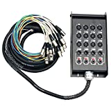 Seismic Audio - SALS-12x4x25-12 Channel 25' Pro Stage XLR Snake Cable (XLR & 1/4' TRS Returns) for...
