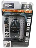QiCheng&LYS Black Guitar to USB Interface Link Instrument Audio Cable PC/MAC Recording Adapter,