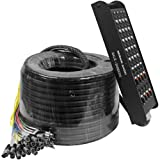 Seismic Audio SALS-24x8x200 24 Channel 200' Pro Stage XLR Snake Cable (XLR & 1/4' TRS Returns) for...