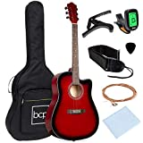 Best Choice Products 41in Beginner Acoustic Guitar Full Size All Wood Cutaway Guitar Starter Set...