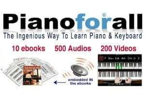 Pianoforall is ingenious way to learn piano with video, audio, ebooks