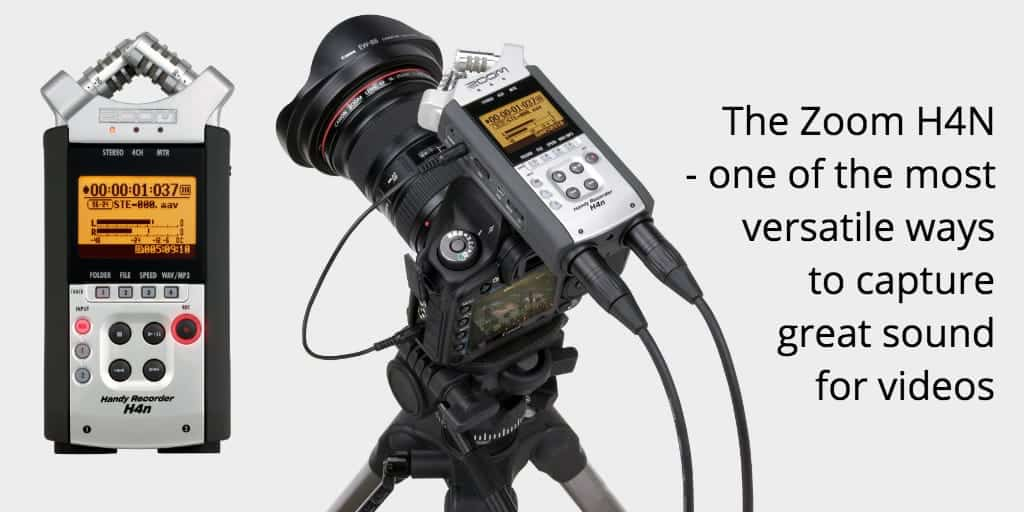 Zoom H4N Portable Digital Recorder For Creating Video Audio Tracks