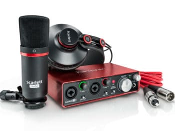 All-In-One Home Recording Studio Package (Scarlett 2i2 Studio)