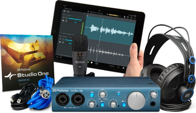 Record guitar and vocals with audio interface plus accessories