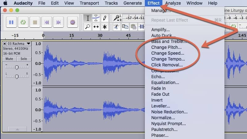 Change The Tempo Or Pitch Of CD's, MP3's Or Any Audio Track