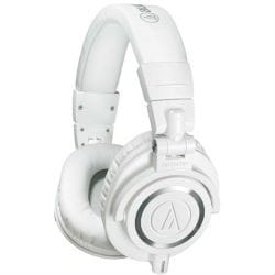Audio Technica ATH M50XWH White Studio Headphones