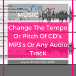 change tempo or pitch of audio track - pinterest image