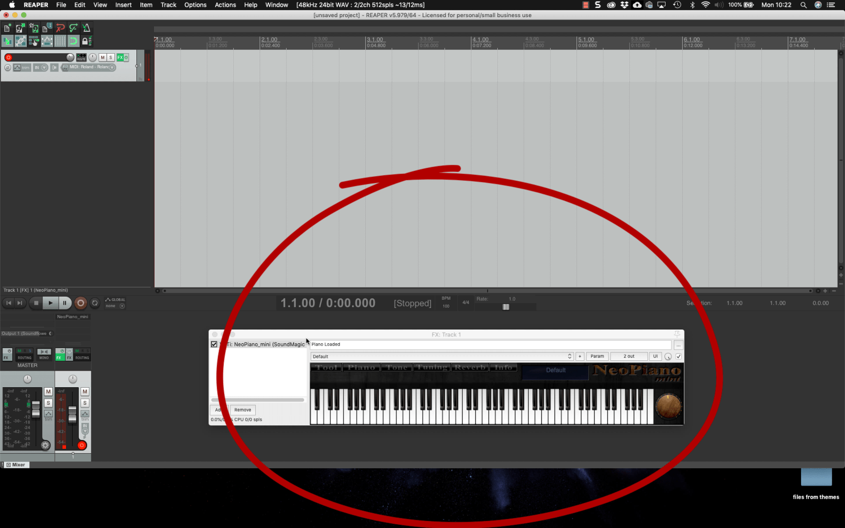Choose virtual instrument for MIDI playback