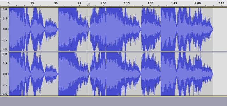 clipping of audio file in audio editor