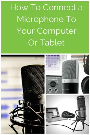 How To Connect a Microphone To Your PC Computer Laptop, Mac