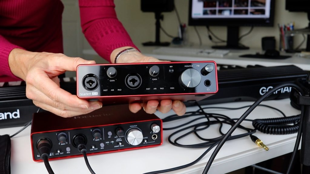 image of 4-channel audio interface