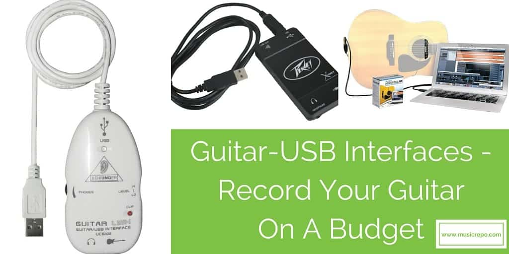 Guitar-USB Interfaces – Record Your Guitar On A Budget