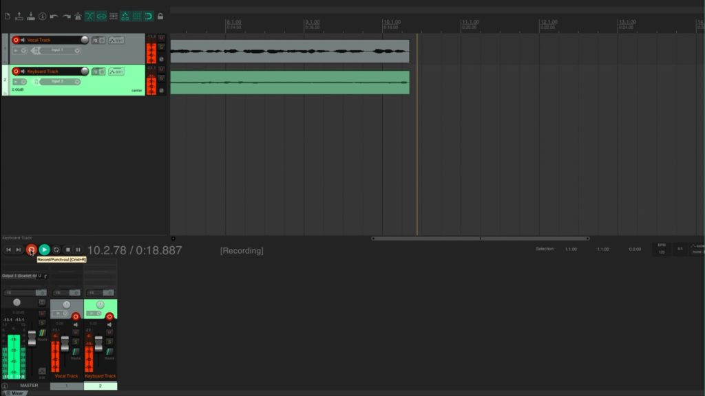 image of audio recording software