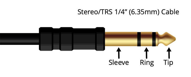 "Stero TRS 1/4"" Audio Cable"