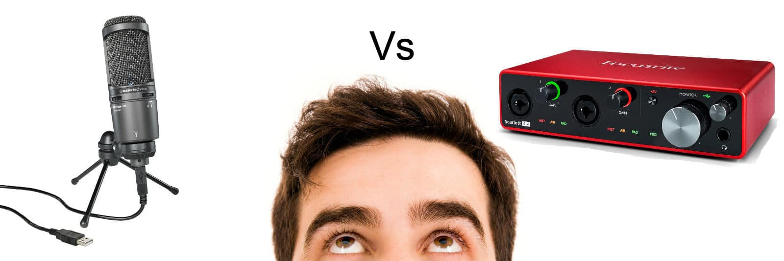 usb microphone vs audio interface banner image