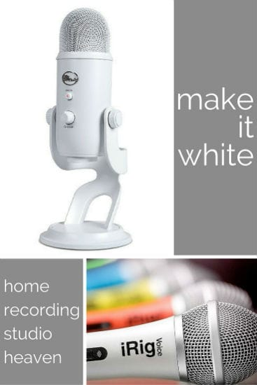 White Home Recording Studio Essentials